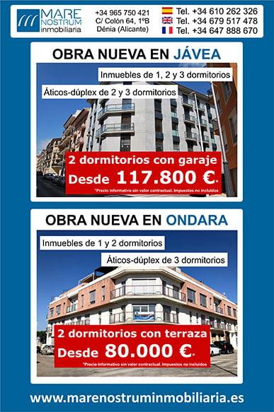 Obras actuales en Jávea y Ondara – Mare Nostrum Inmobiliaria