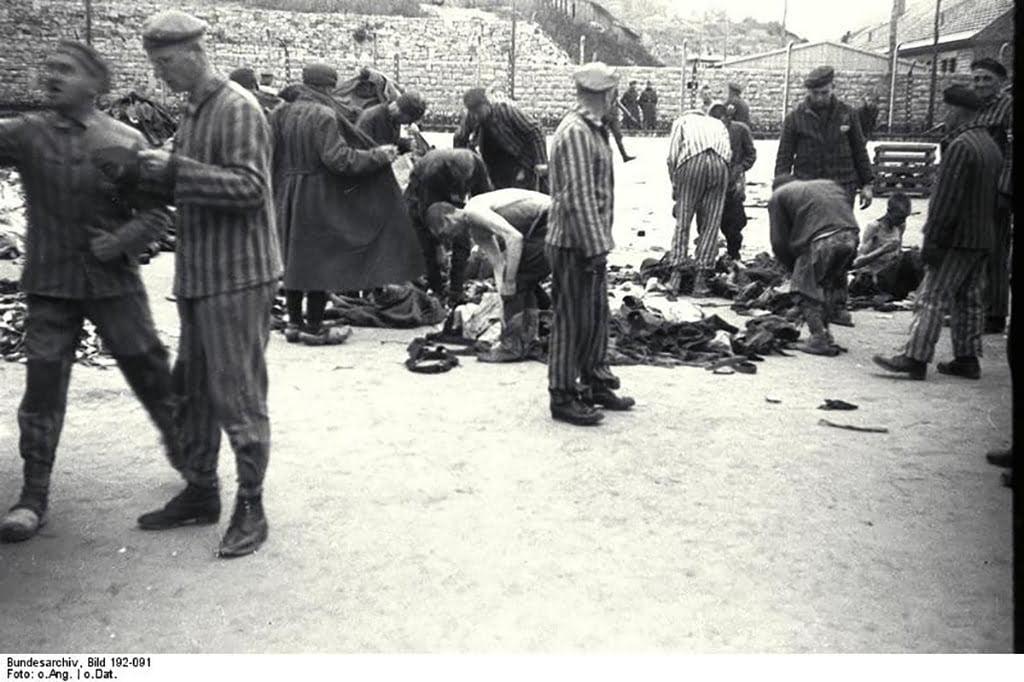 Presos del campo de concentración nazi de Mauthausen