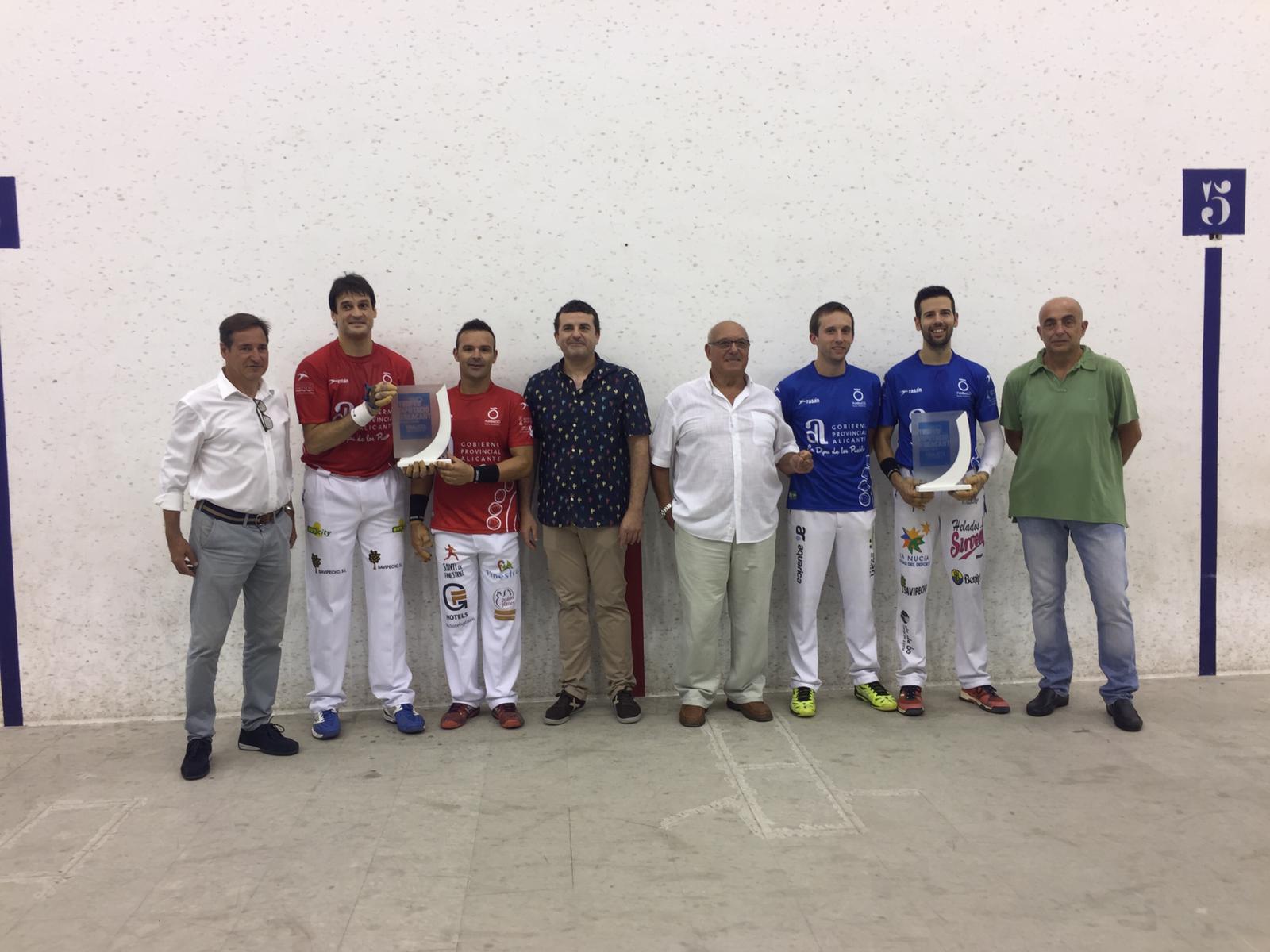Protagonistas de la Final del Trofeo Diputación Alicante de Escala i Corda