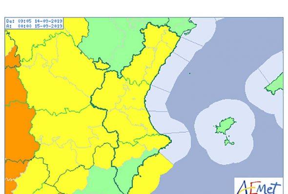 Imagen: Activada la alerta amarilla para el sábado 14 de septiembre
