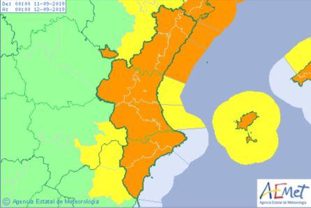 Imagen: Aemet decreta alerta naranja por lluvias y temporal