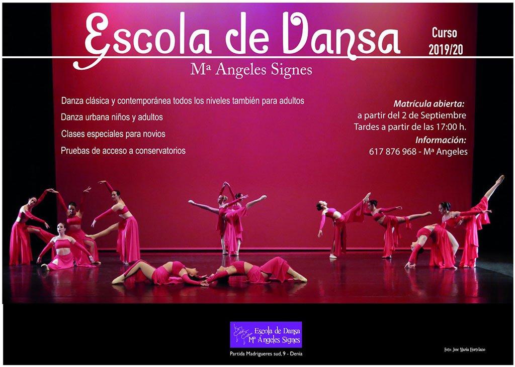 Modalidades de danza en Escola de Dansa Mª Ángeles Signes