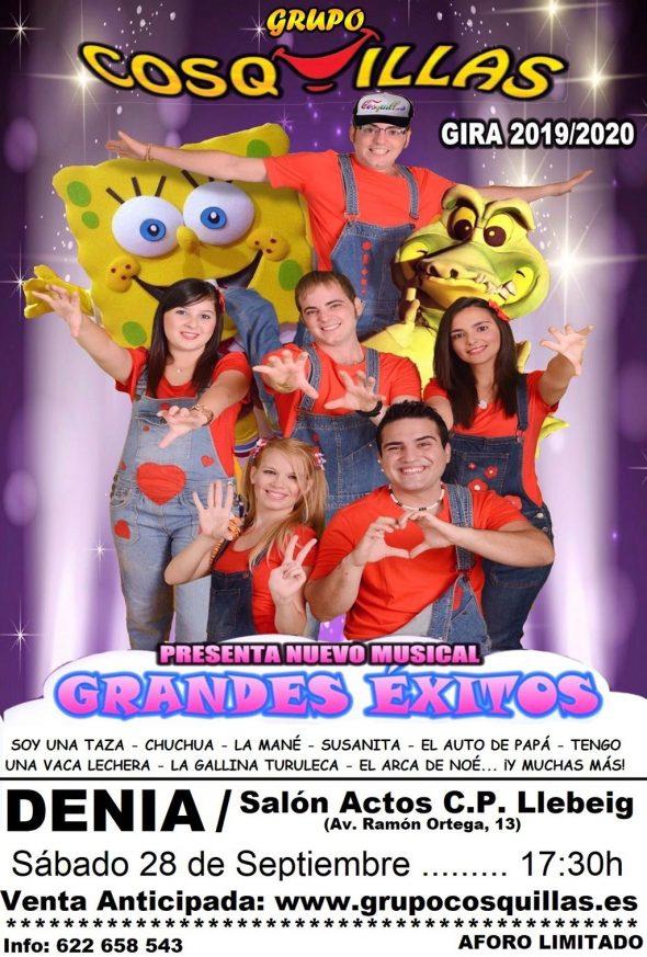 Imagen: Cartel musical infantil del Grupo Cosquillas en Dénia
