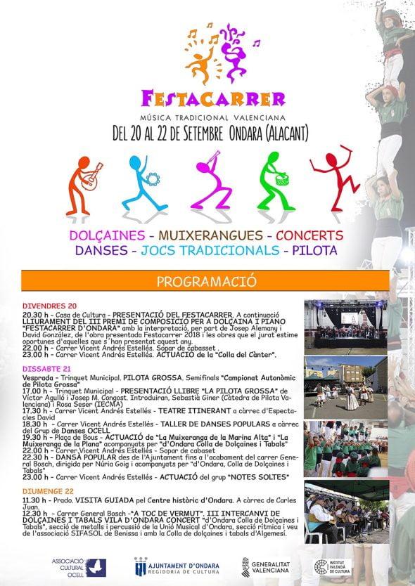 Image: Affiche annonçant la programmation du Festacarrer 2019