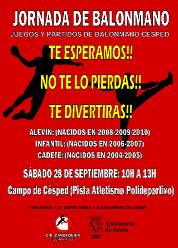 Imagen: Cartel Jornada Balonmano