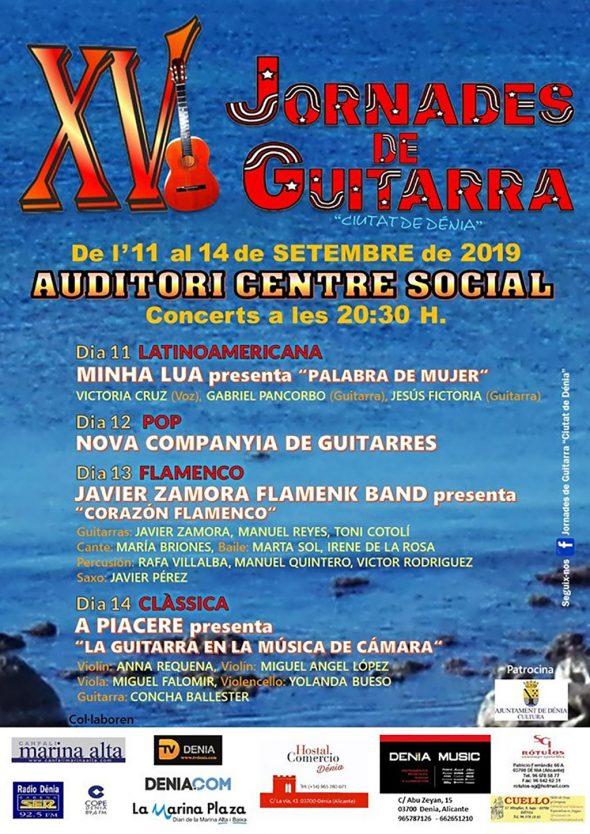 Imagen: Cartel XV Jornades de Guitarra