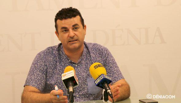 Imagen: El concejal de Deportes, Raúl García de la Reina