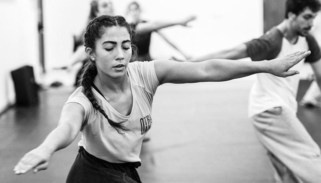 Elena Sevilla durante una actuación. Fotografía Germán Antón