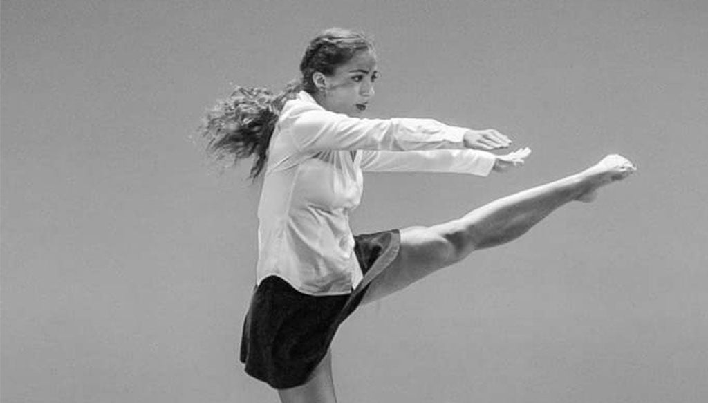La bailarina dianense Elena Sevilla. Fotografía Paco Giménez