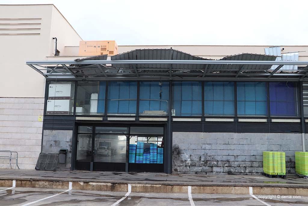 Zustand des Daches des Fischmarktes