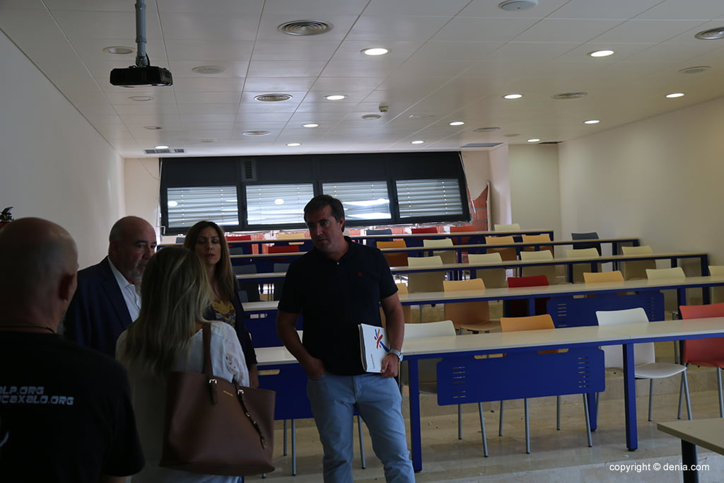 Herick Campos en un aula del CdT