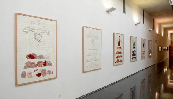 Image: The Gula work exhibited at the Dénia Hospital