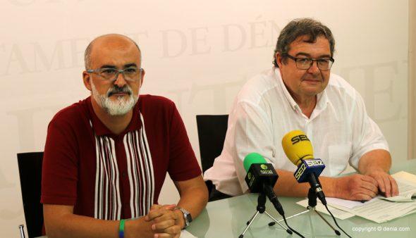 Imatge: Els regidors Scotto i Roselló en roda de premsa