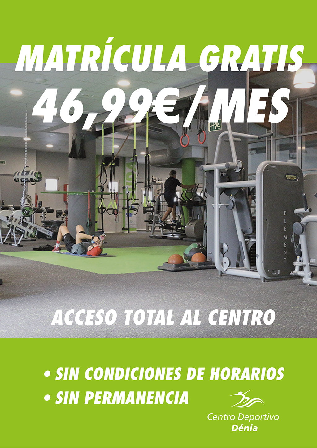 Free registration offer - Dénia Sports Center
