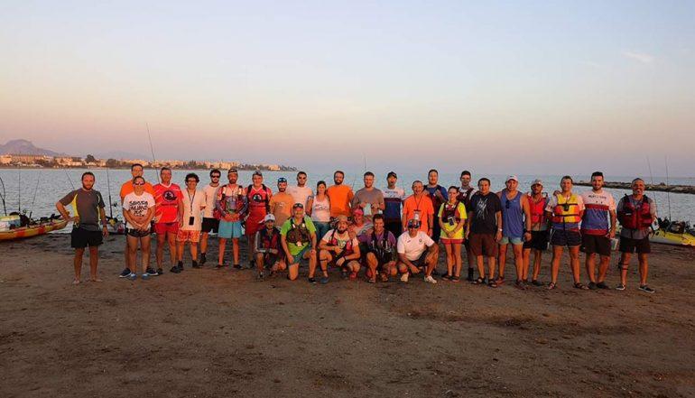Participantes Concurso de Pesca en Kayak de Marina El portet