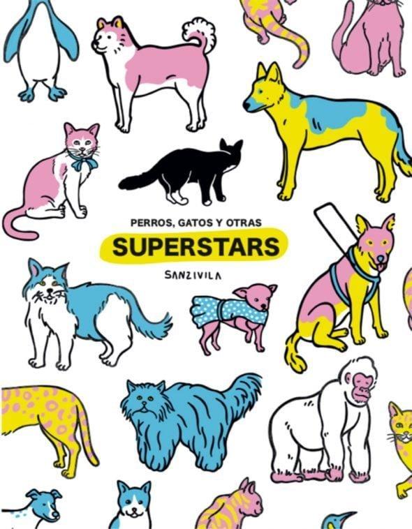 Image: Cover% 22 Chiens, chats et autres superstars% 22 de Sanz i Vila