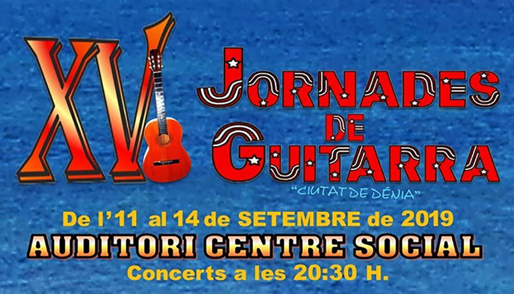 Portada XV Jornades de Guitarra