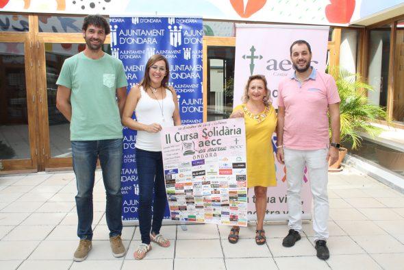Imatge: Presentació de la Cursa solidària d'Ondara per a l'AECC