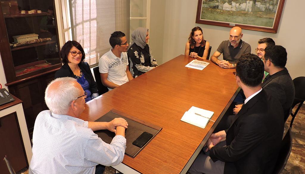 Recepció de la delegació turca a l'ajuntament