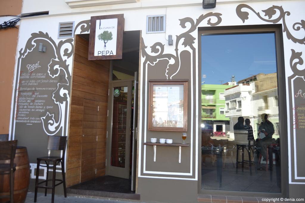 Fachada restaurante La Cuina de Pepa