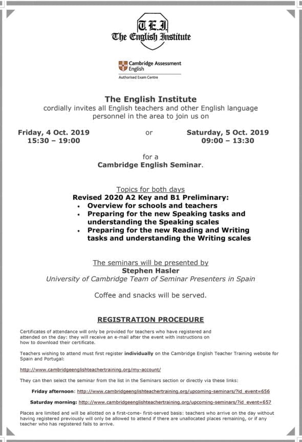 Image: Seminar for English teachers - The English Institute