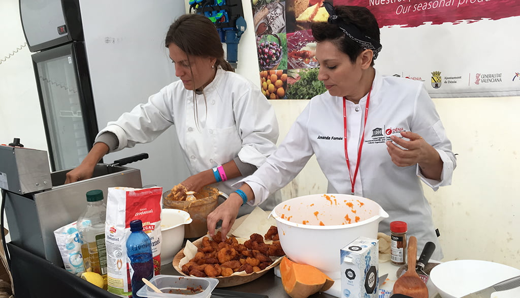 Showcooking de Amanda Fornés y Lourdes Ponce