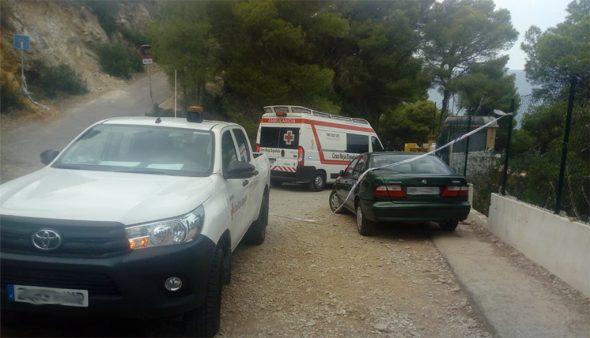 Imatge: Trasllat en ambulància de la ferida a l'hospital