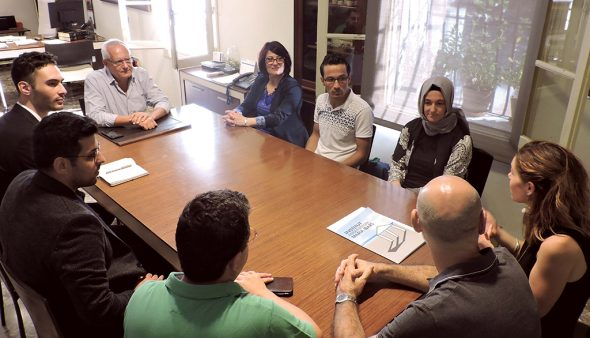 Imatge: Visita de la delegació de Gaziantep
