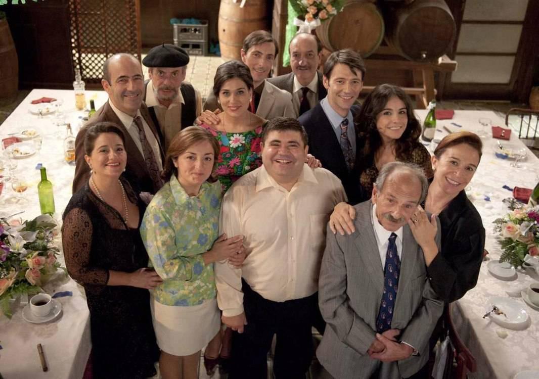 Schauspieler aus L'Alqueria Blanca, einer valencianischen Fernsehserie