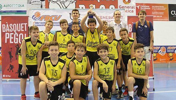 Image: Male juvenile 08, champion team of the Valencian Lliga