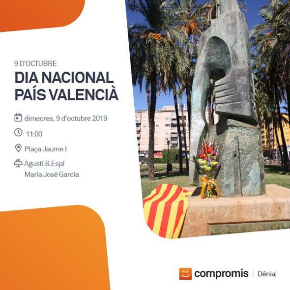 Bild: 9 d'Octubre Poster von Compromís per Dénia
