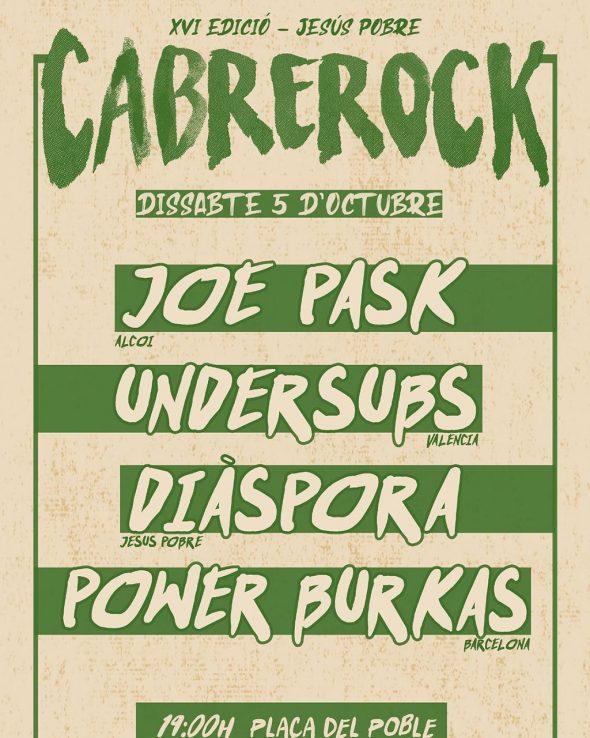 Immagine: poster della XVI edizione del Cabrerock