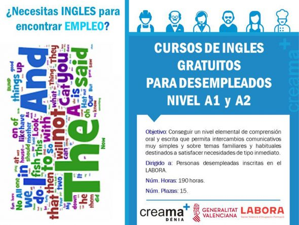 Image: Poster of Creama's English courses