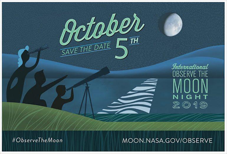 Cartell del Dia Internacional de l'Observació de la Lluna