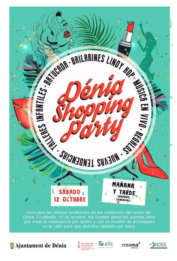 Image: Poster Dénia Shopping Party