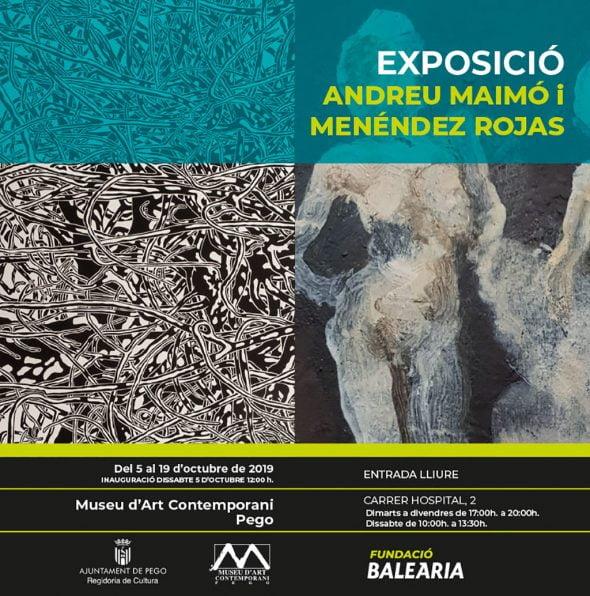 Imagen: Cartel exposición Andreu Maimó y Menéndez Rojas