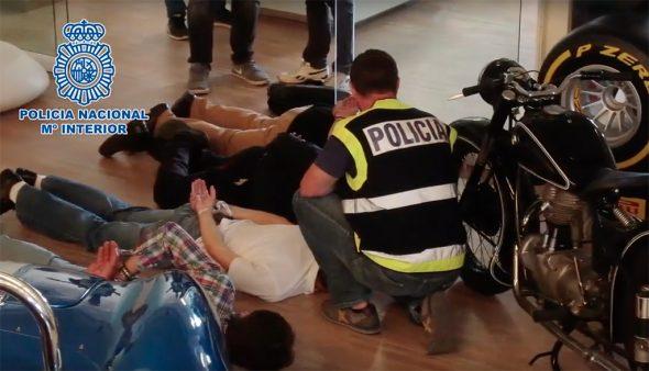 Imatge: Detinguts en la batuda del concessionari de Xàbia