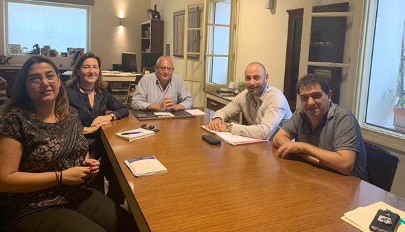Imagen: El CEDMA reunido con el alcalde, Vicent Grimalt