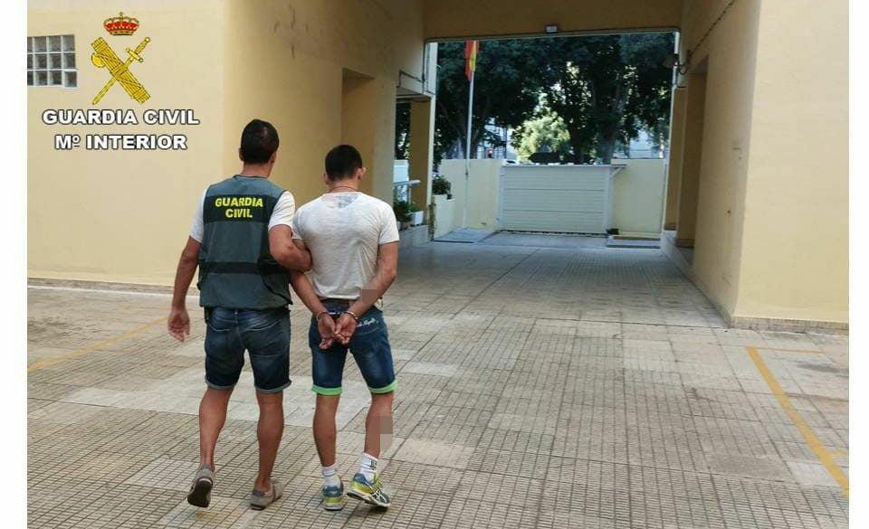 El lladre detingut per la Guàrdia Civil