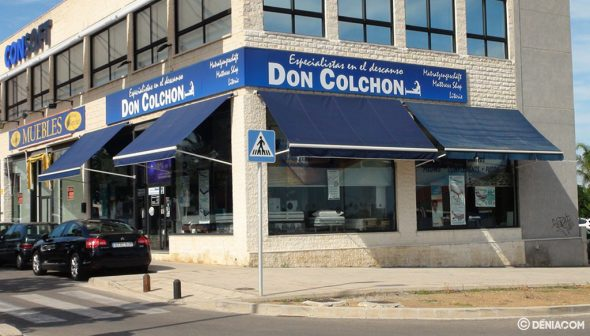 Imagen: Fachada de la tienda de Dénia - Don Colchón