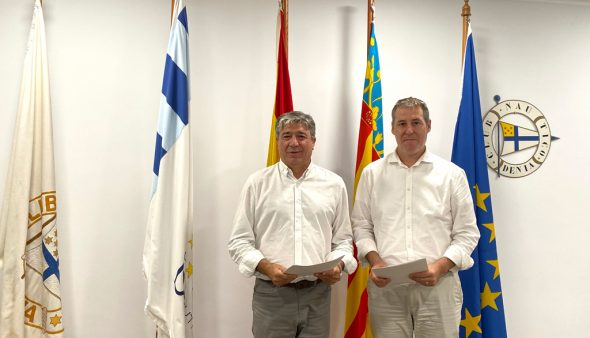 Image: Signature de la collaboration entre le Royal Yacht Club de Dénia et le Ténor Cortis