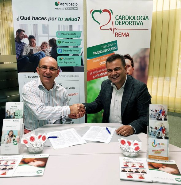 Image: Signing of a collaboration agreement between REMA (Marina Alta Rehabilitation) and the Agrupació insurance company