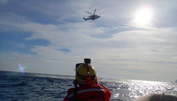 Imatge: Helicòpter Helimer durant un simulacre