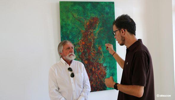 Imatge: Juan Caravaca i Gabriel Martínez presenten l'exposició