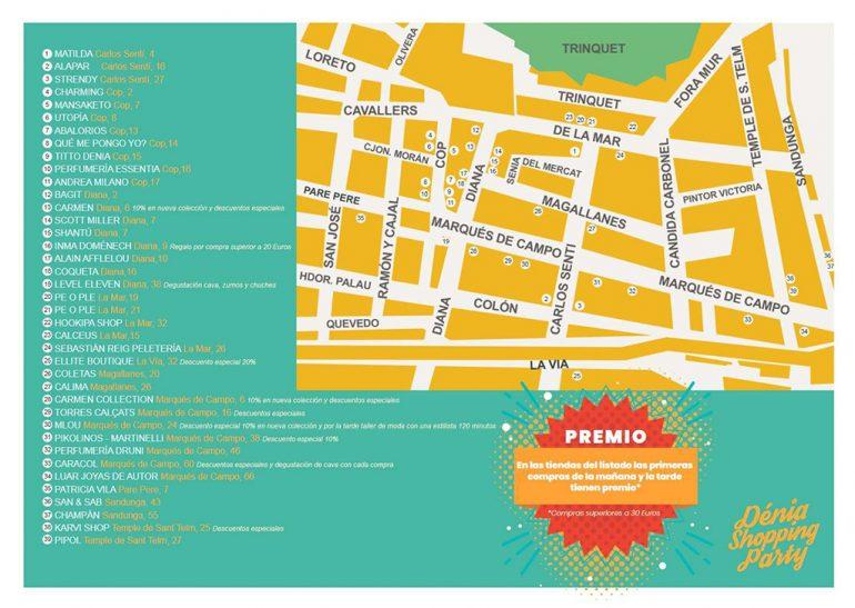 Карта магазинов, которые присоединяются к событию