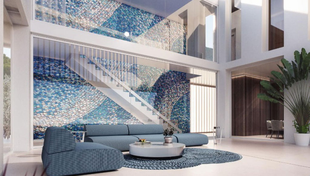 Central mosaic that collects the light and provides avant-garde -Fine & Country Costa Blanca North
