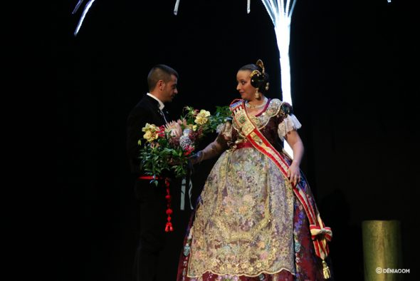 Image: Pablo García and Judith Fernández, President and Fallera Mayor of the Diana 2020 Falla