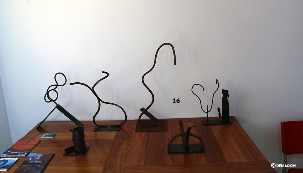 Por primera vez el artista expondrá esculturas en hierro forjado