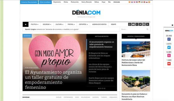 Imagen: Portada de Dénia.com