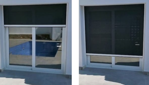 Image: Motorized screen in closing process - Alucardona Pvc y Aluminios SL